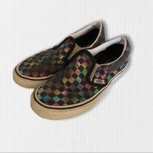 Vans Classic Iridescent Check Slip-On Sneaker